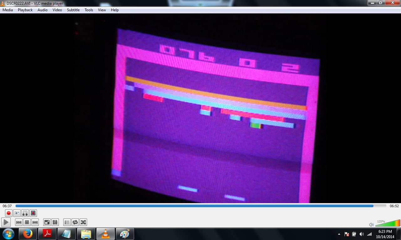 thedarkbanshee: Breakout: Game 1: 4 Player Game [Combined Score] (Atari 2600 Novice/B) 427 points on 2014-10-14 20:20:44