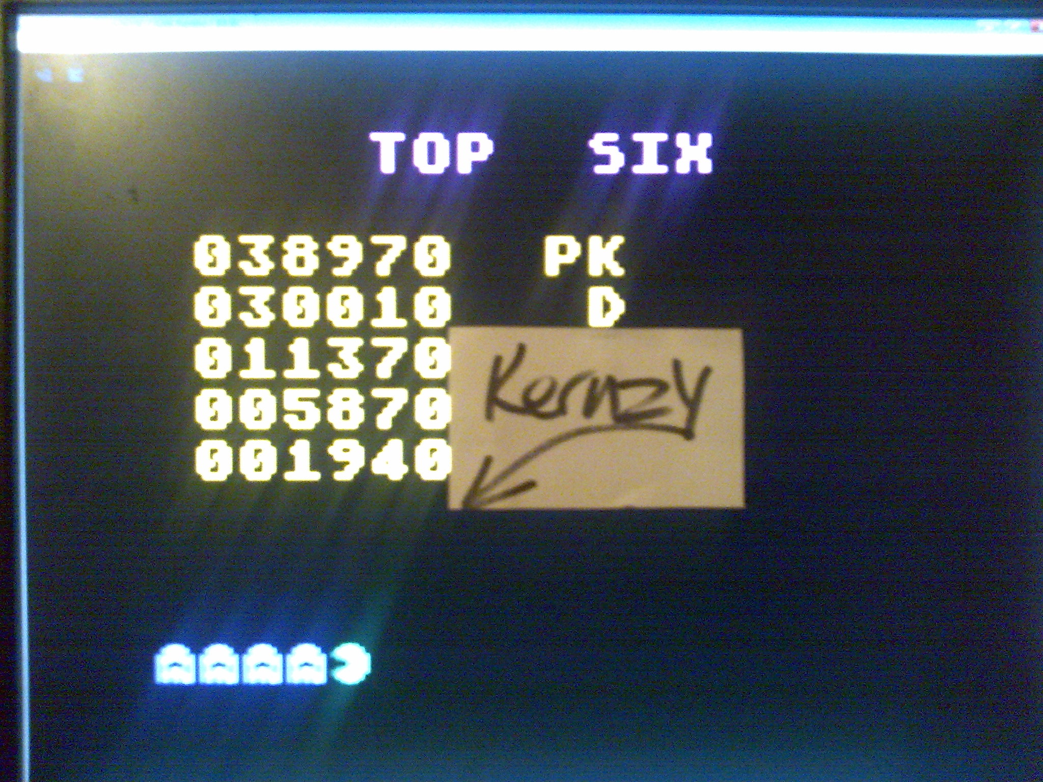 kernzy: Sir Pac-Man (Atari 400/800/XL/XE Emulated) 38,970 points on 2014-10-15 11:58:41