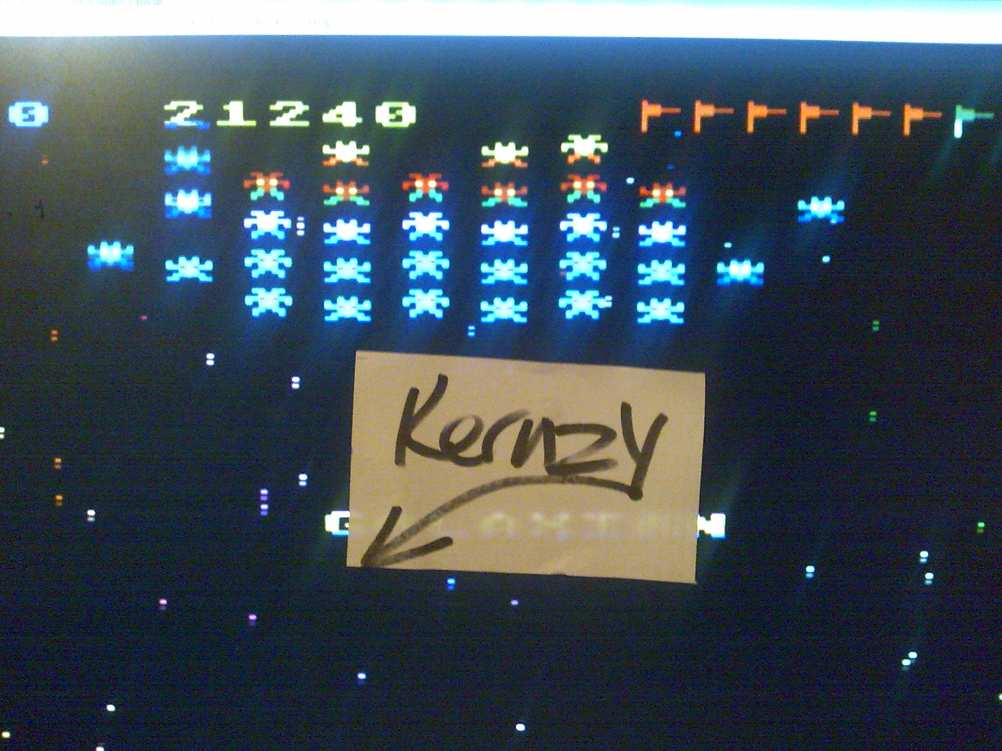 kernzy: Galaxian (Atari 400/800/XL/XE Emulated) 21,240 points on 2014-10-15 12:01:21