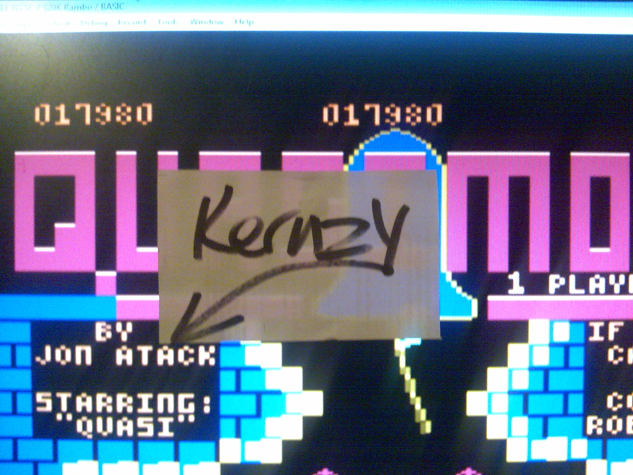 kernzy: Quasimodo (Atari 400/800/XL/XE Emulated) 17,980 points on 2014-10-15 12:08:24