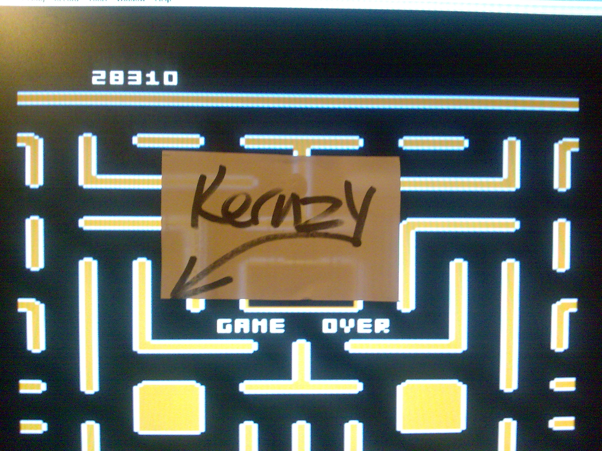 kernzy: Jr. Pac-Man (Atari 400/800/XL/XE Emulated) 28,310 points on 2014-10-15 12:10:13