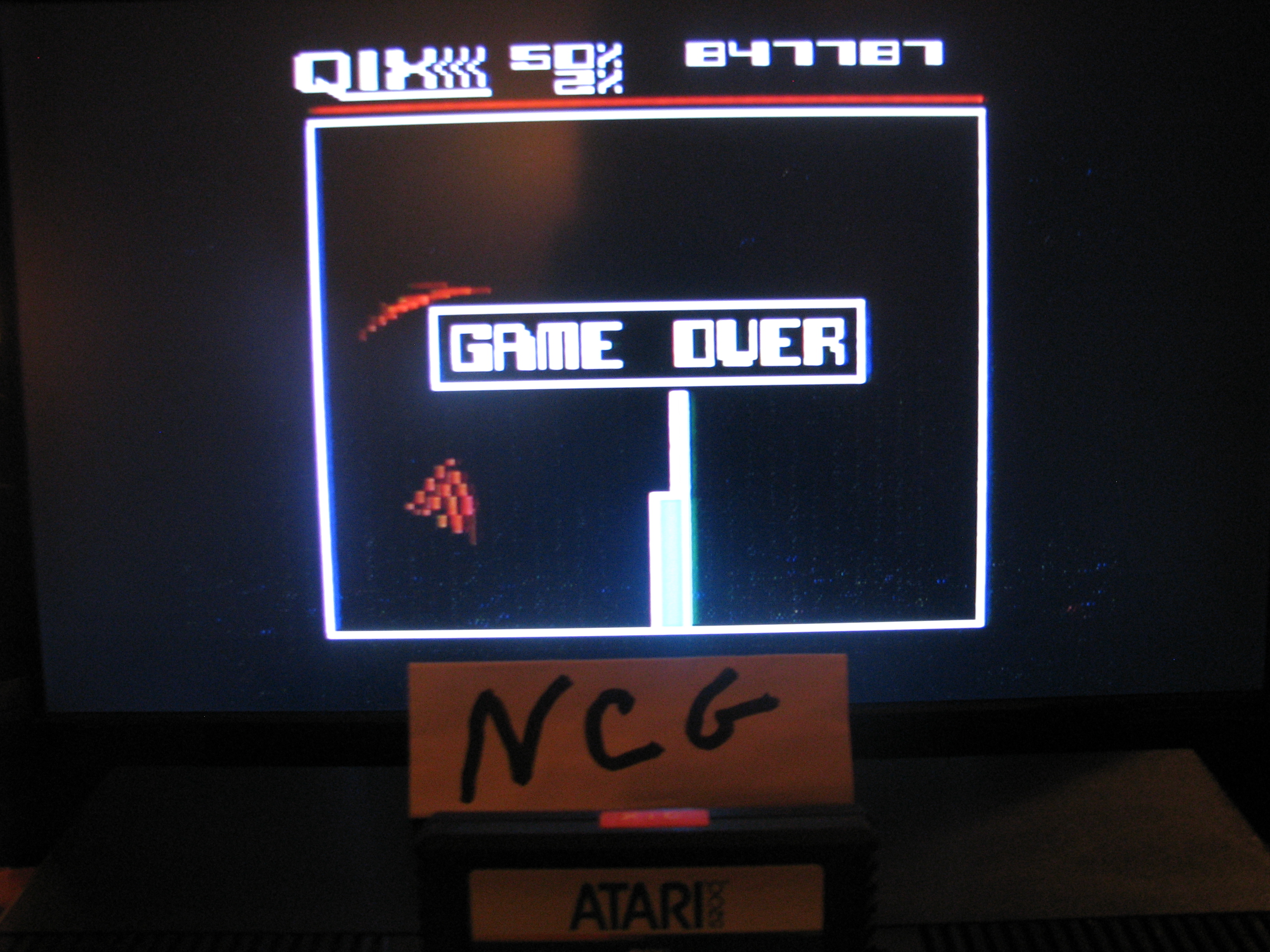 NorthCoastGamer: Qix: Novice (Atari 5200) 847,787 points on 2014-10-15 15:28:22