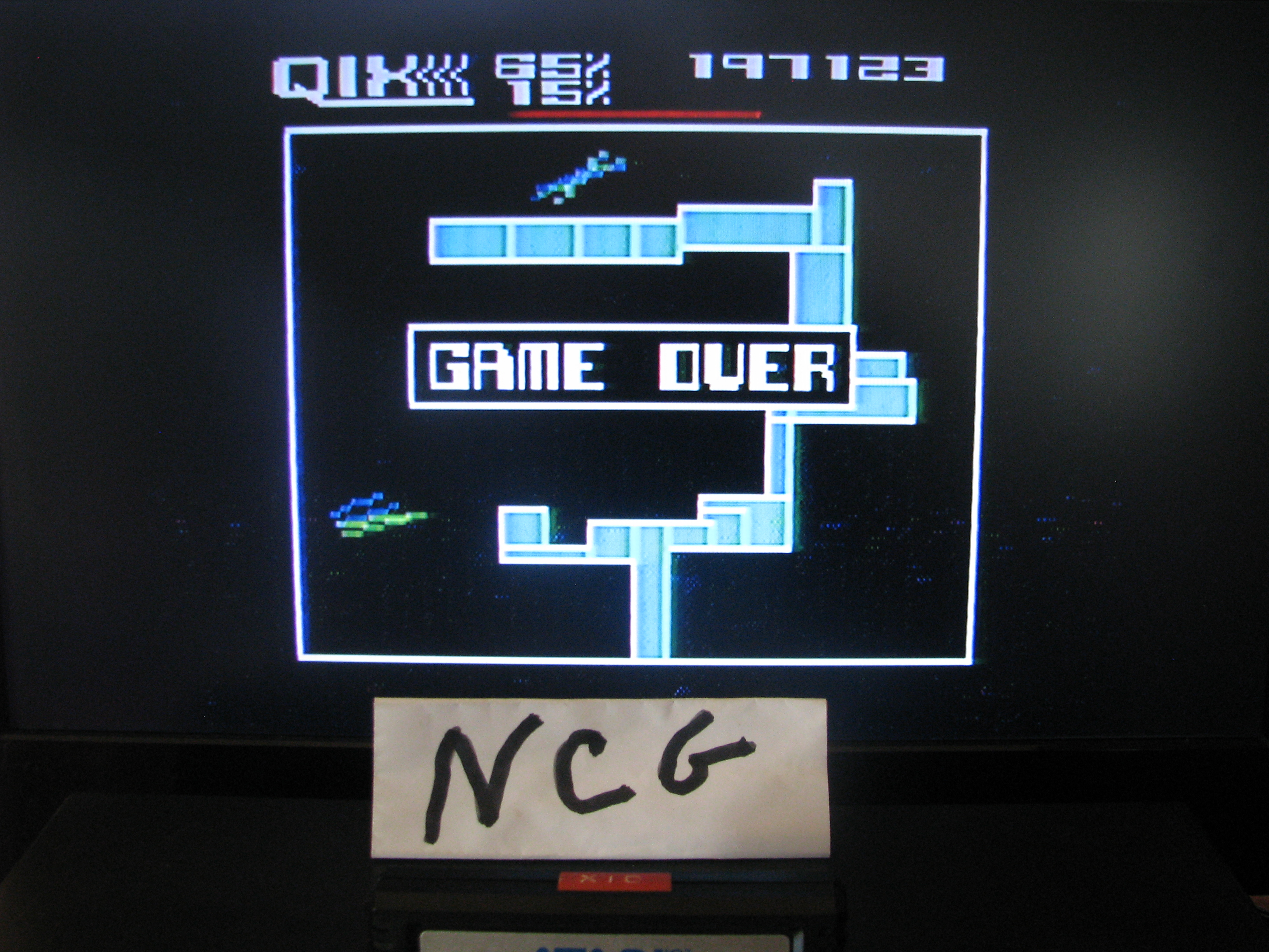 NorthCoastGamer: Qix: Skilled (Atari 5200) 197,123 points on 2014-10-15 15:36:01