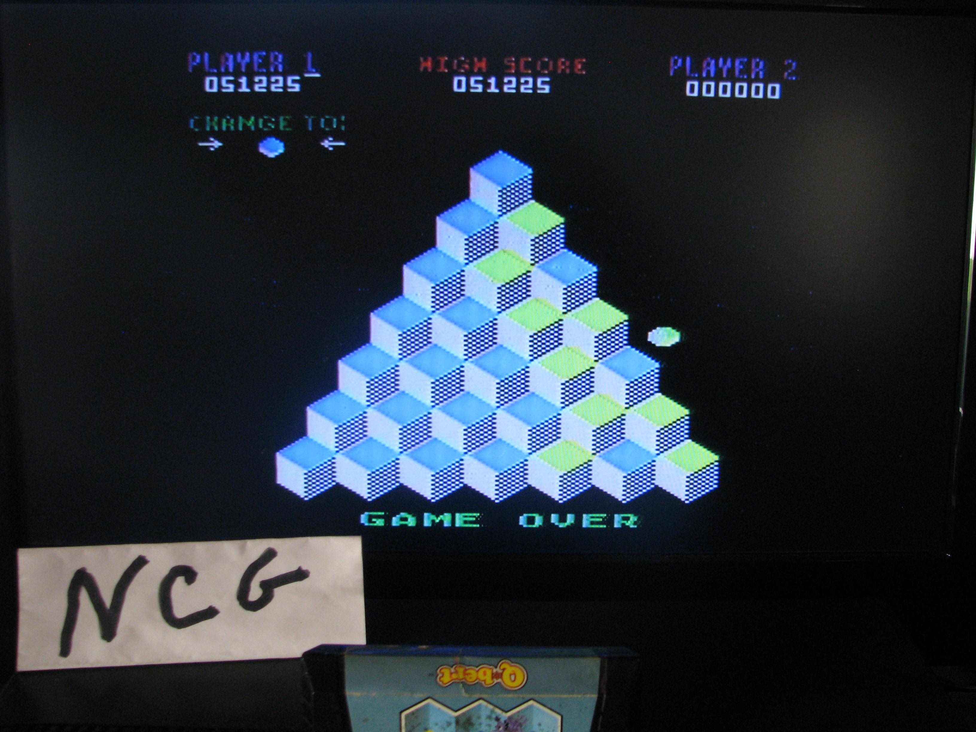NorthCoastGamer: Q*Bert: Game 1 (Atari 5200) 51,225 points on 2014-10-15 15:49:16