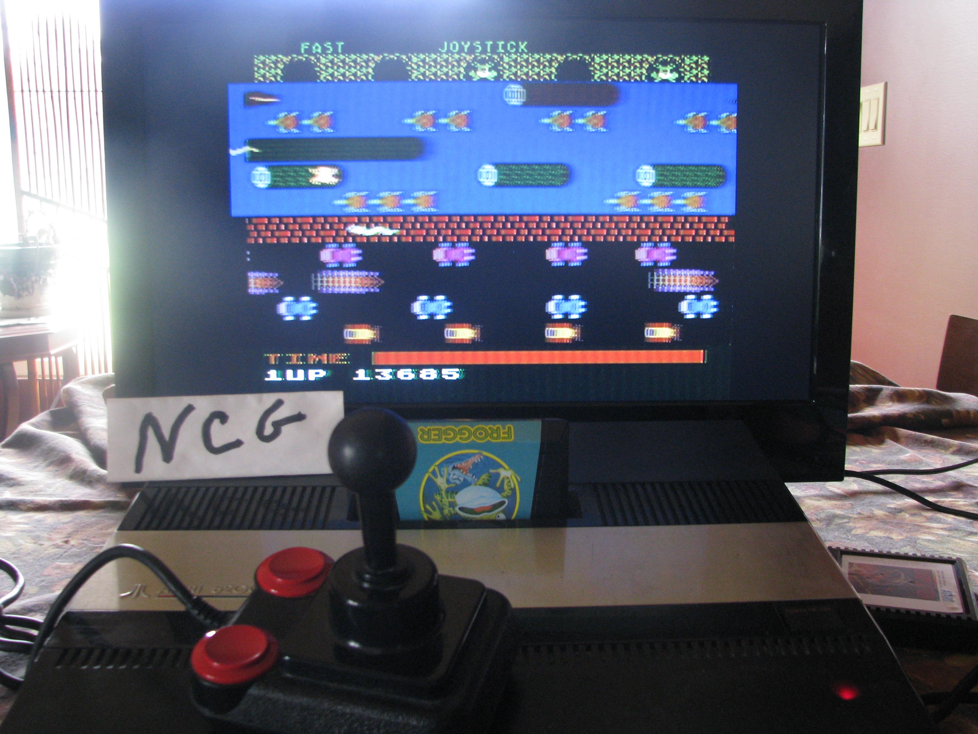 NorthCoastGamer: Frogger (Atari 5200) 13,685 points on 2014-10-15 15:58:54