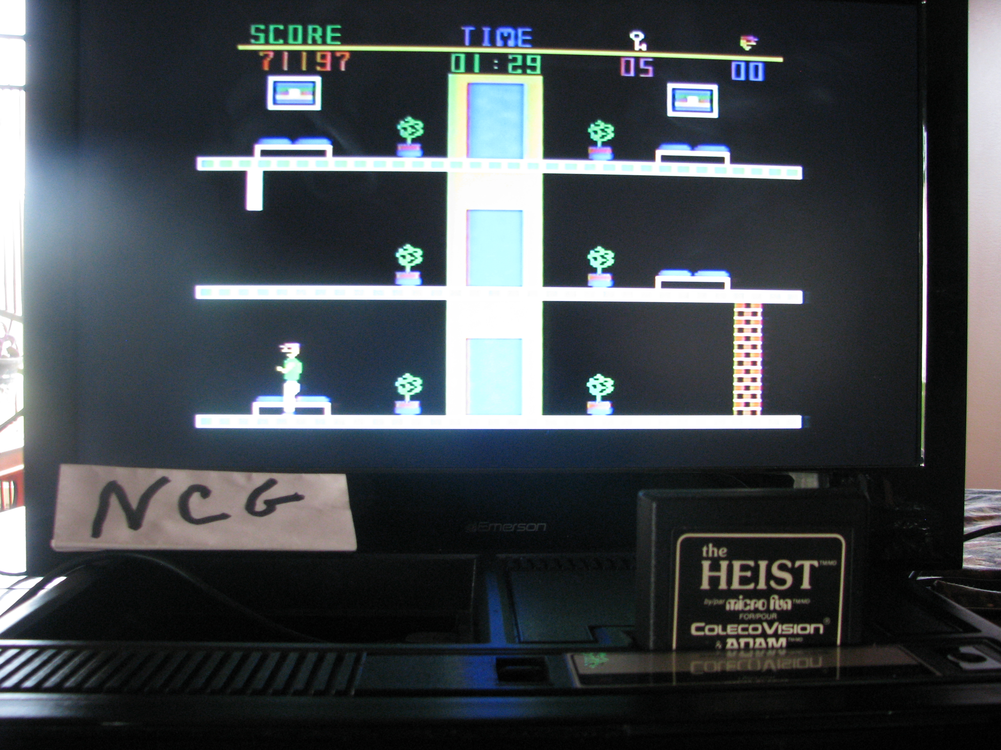 NorthCoastGamer: The Heist (Colecovision) 71,197 points on 2014-10-15 16:03:50