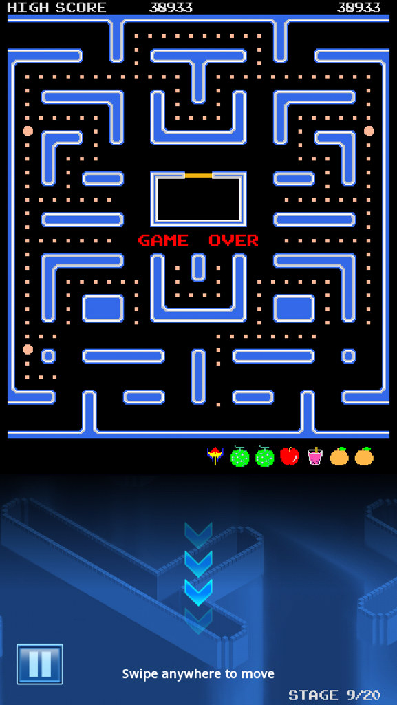 Pac-Man: Beetle Map [No Continues] 38,933 points