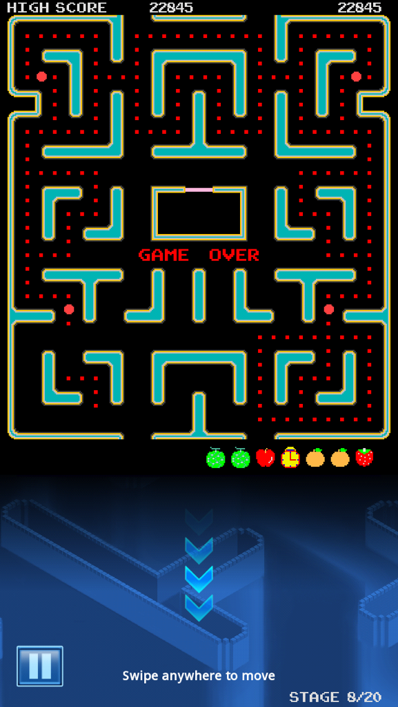 Congslop: Pac-Man: Tilt Map [No Continues] (iOS) 22,845 points on 2014-10-16 17:37:06