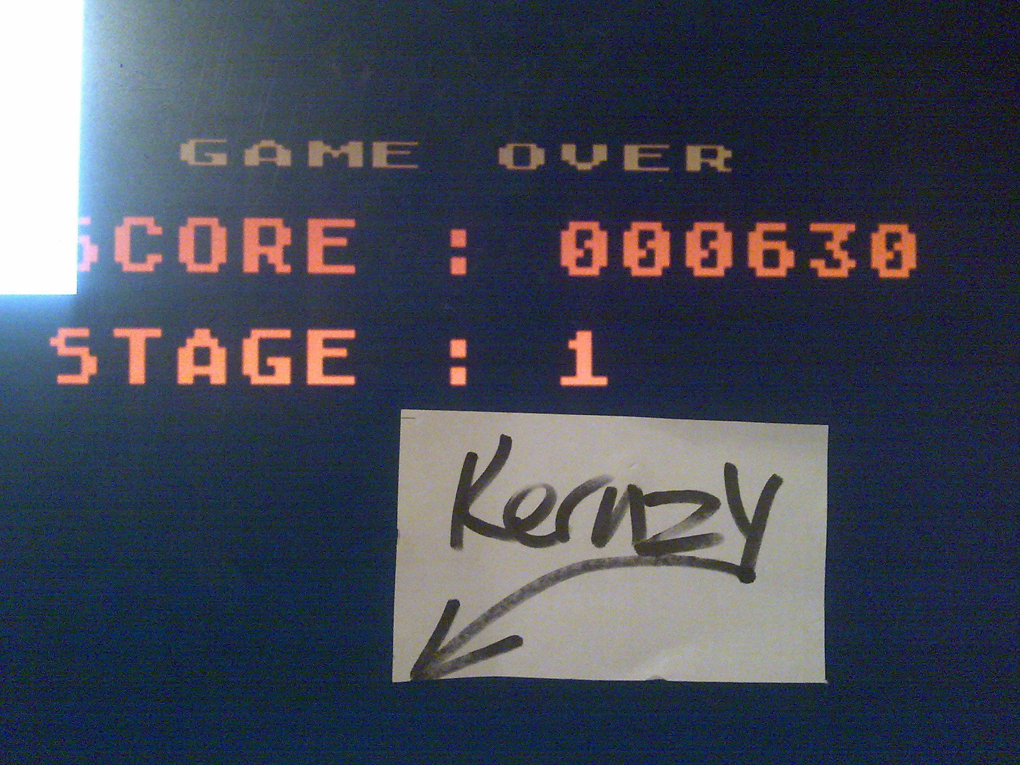 kernzy: Green Beret (Atari 400/800/XL/XE Emulated) 630 points on 2014-10-16 19:48:50