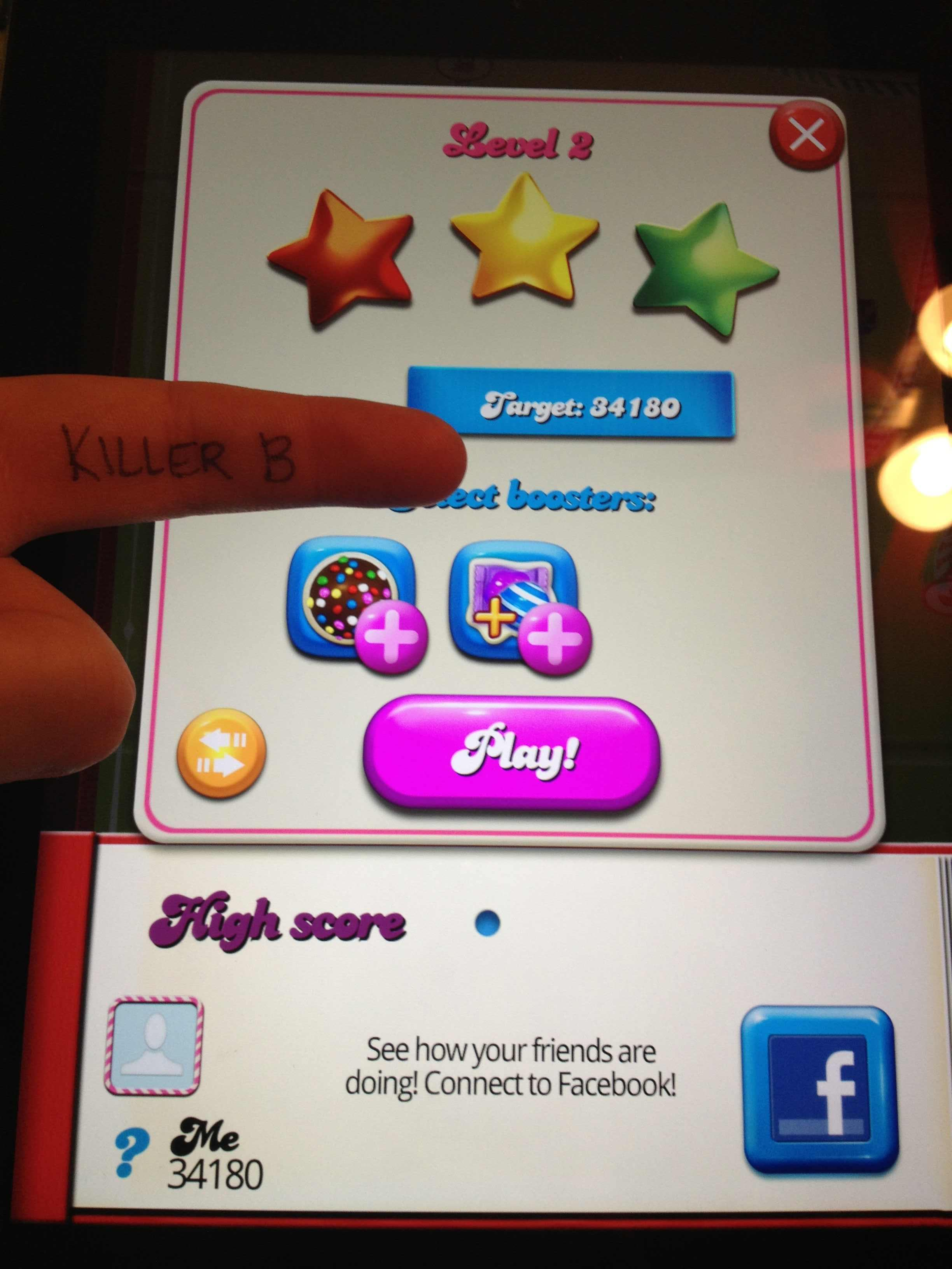 Candy Crush Saga: Level 002 34,180 points