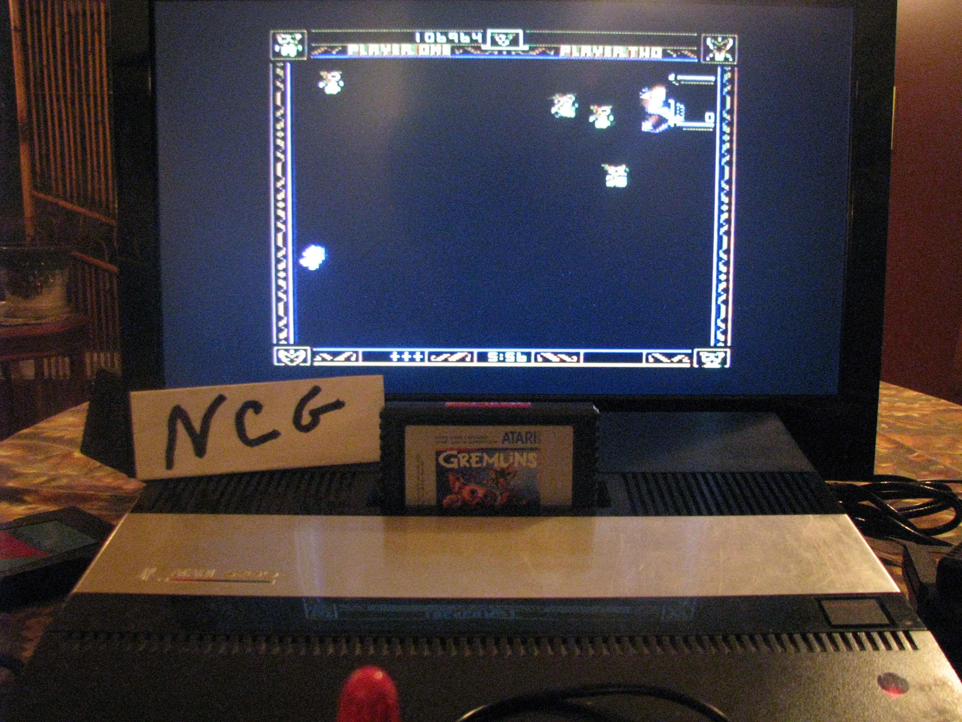 NorthCoastGamer: Gremlins (Atari 5200) 106,964 points on 2014-10-17 19:15:21