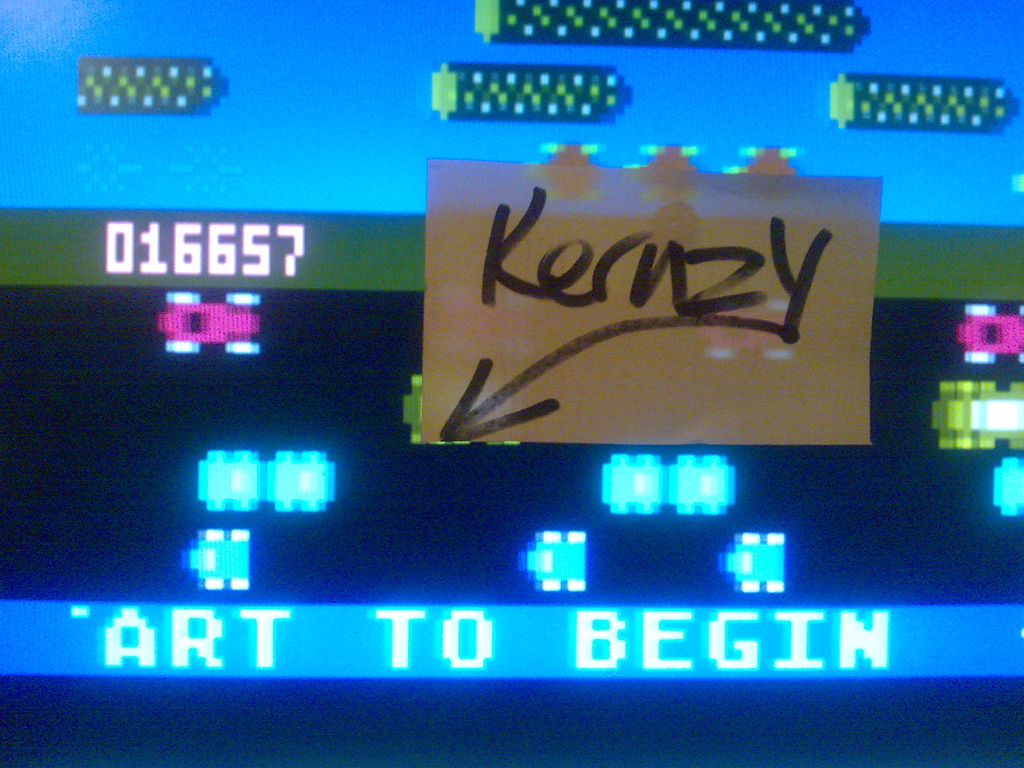 kernzy: Froggie (Atari 400/800/XL/XE Emulated) 16,657 points on 2014-10-17 21:16:11