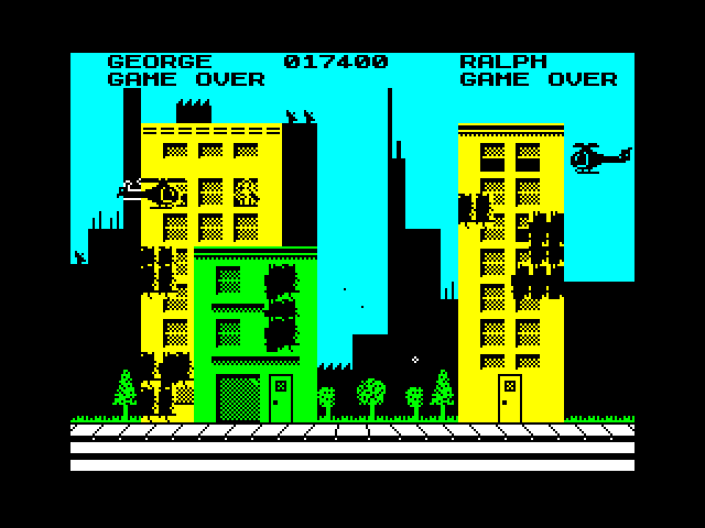mechafatnick: Rampage (ZX Spectrum Emulated) 17,400 points on 2014-10-18 08:28:57