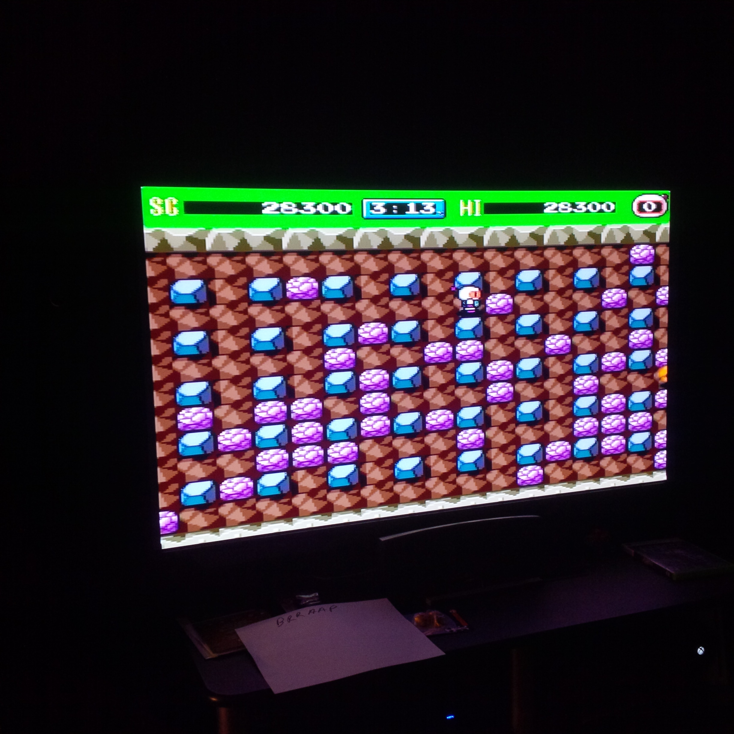 brraap: Bomberman 93 [Normal] (TurboGrafx-16/PC Engine) 28,300 points on 2014-10-18 19:32:16