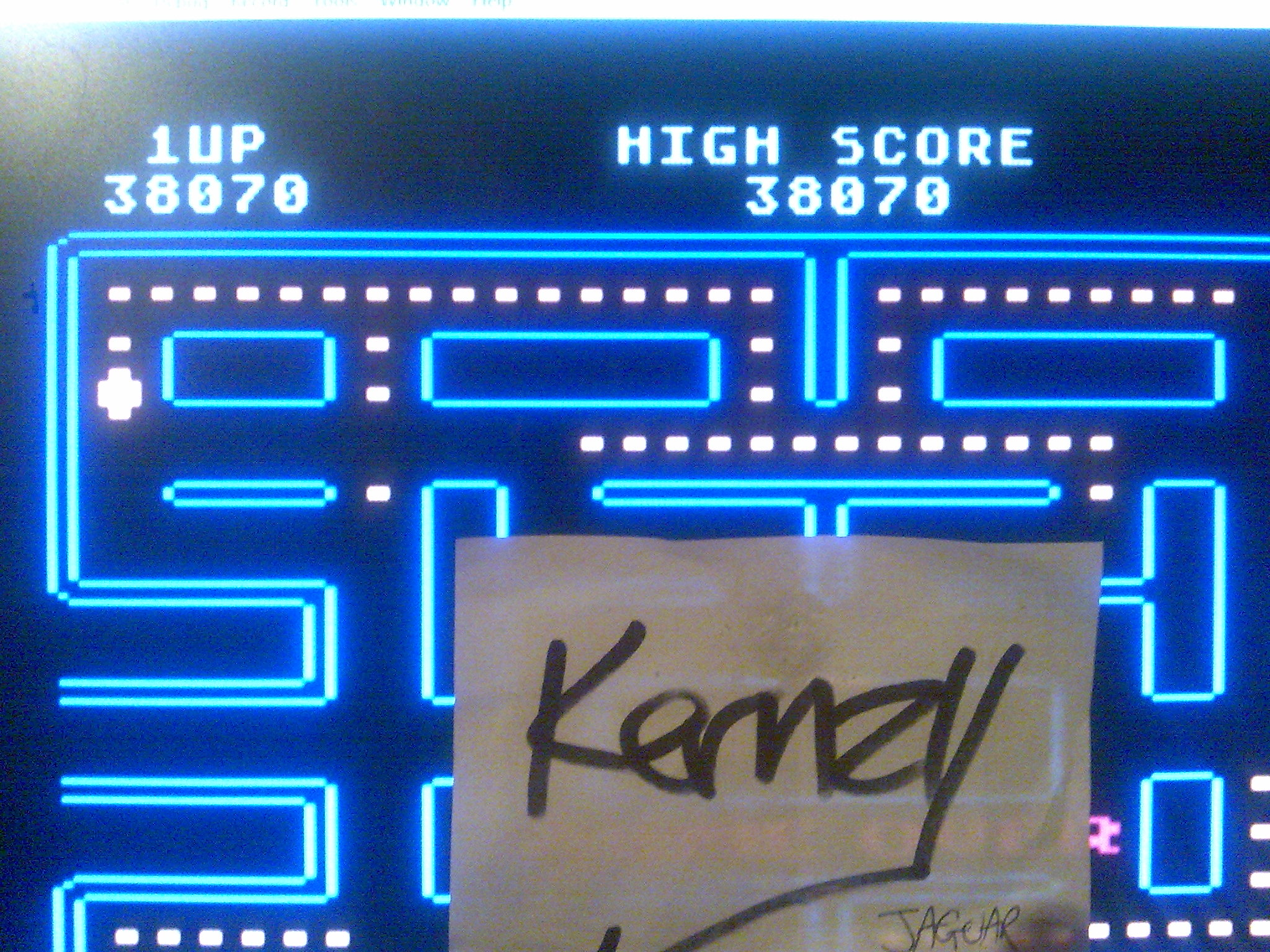 kernzy: Pac-Man [Lime Start] (Atari 400/800/XL/XE Emulated) 38,070 points on 2014-10-18 23:17:47