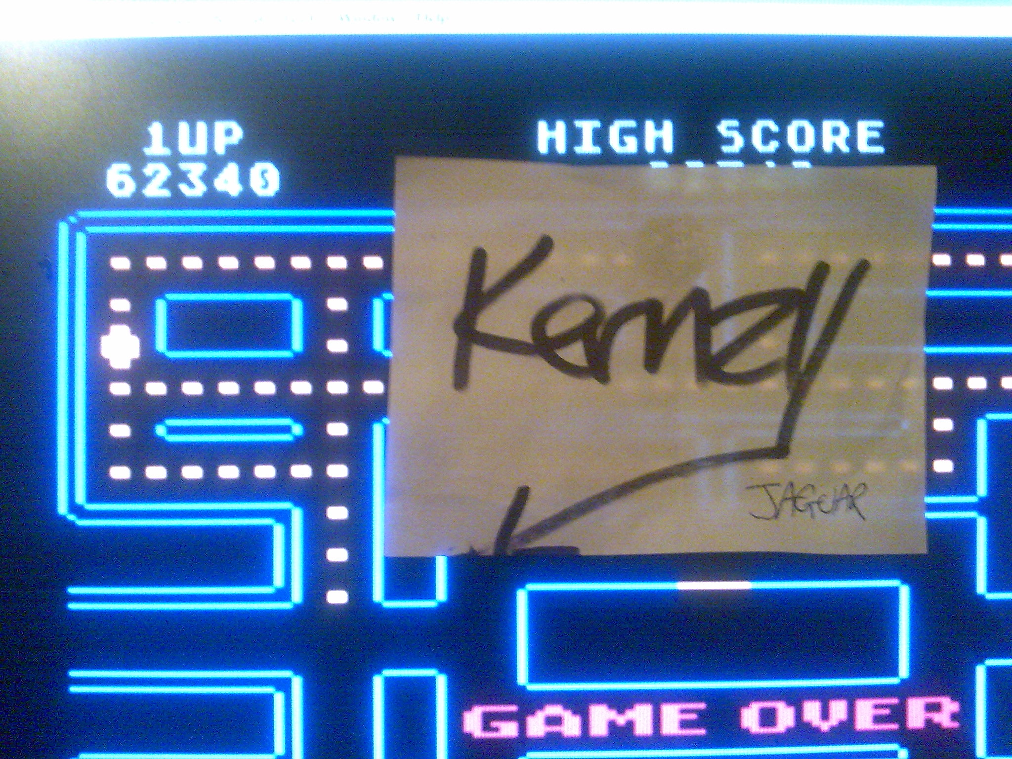 kernzy: Pac-Man [Atari Start] (Atari 400/800/XL/XE Emulated) 62,340 points on 2014-10-18 23:20:45