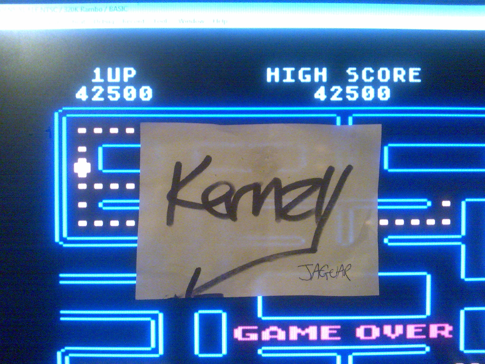 kernzy: Pac-Man [Orange  Start] (Atari 400/800/XL/XE Emulated) 42,500 points on 2014-10-18 23:24:54