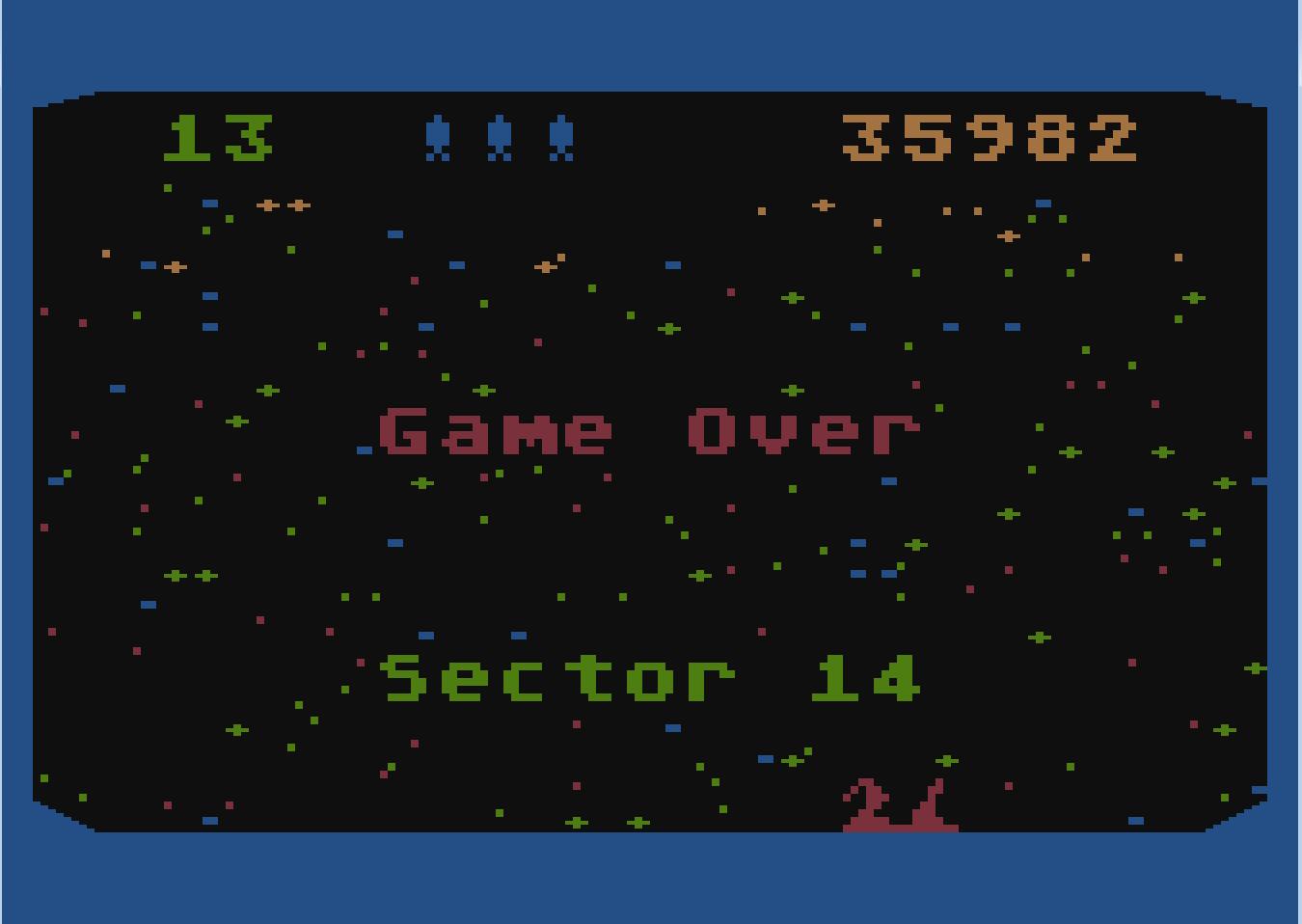 Liduario: Beamrider (Atari 400/800/XL/XE Emulated) 35,982 points on 2014-10-19 11:42:22