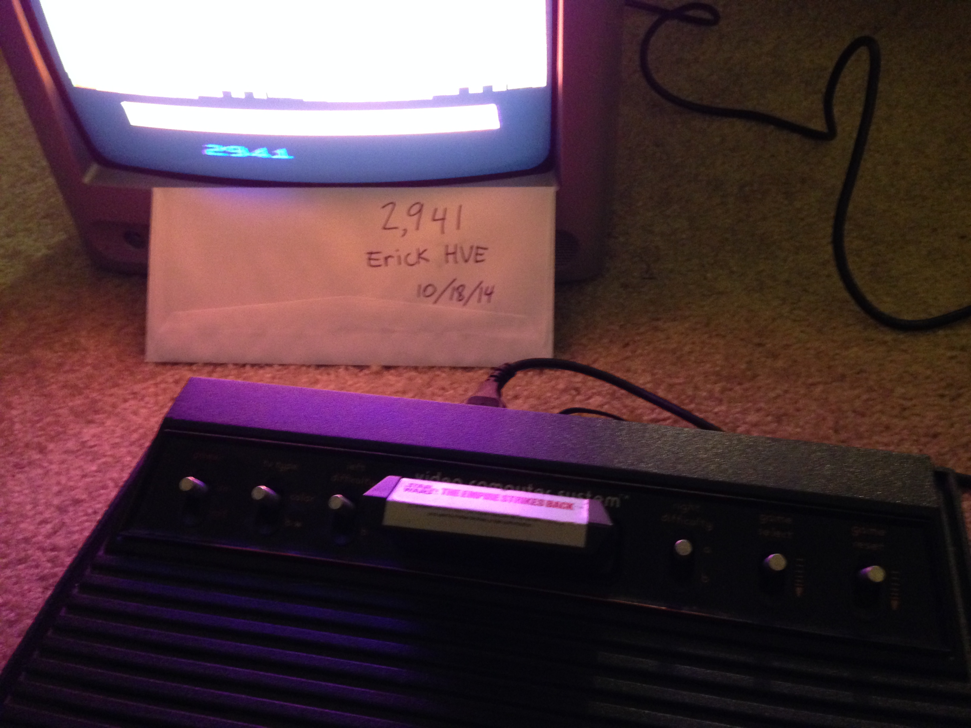 ErickHVE: Star Wars: Empire Strikes Back (Atari 2600 Expert/A) 2,941 points on 2014-10-20 01:37:11