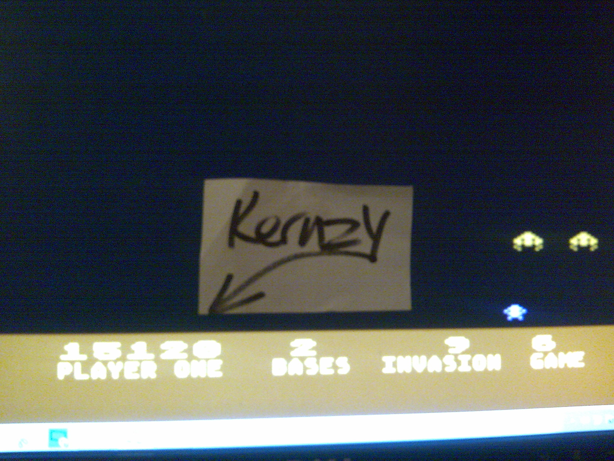 kernzy: Deluxe Invaders: Game 6 (Atari 400/800/XL/XE Emulated) 15,120 points on 2014-10-21 13:01:32