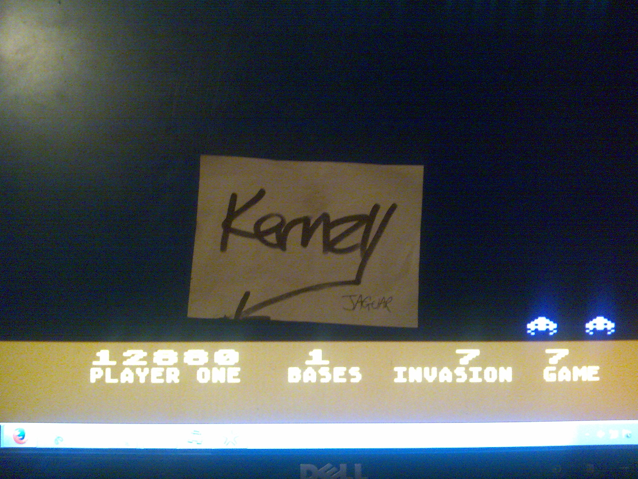 kernzy: Atari Invaders [Game 7] (Atari 400/800/XL/XE Emulated) 12,880 points on 2014-10-21 23:42:01