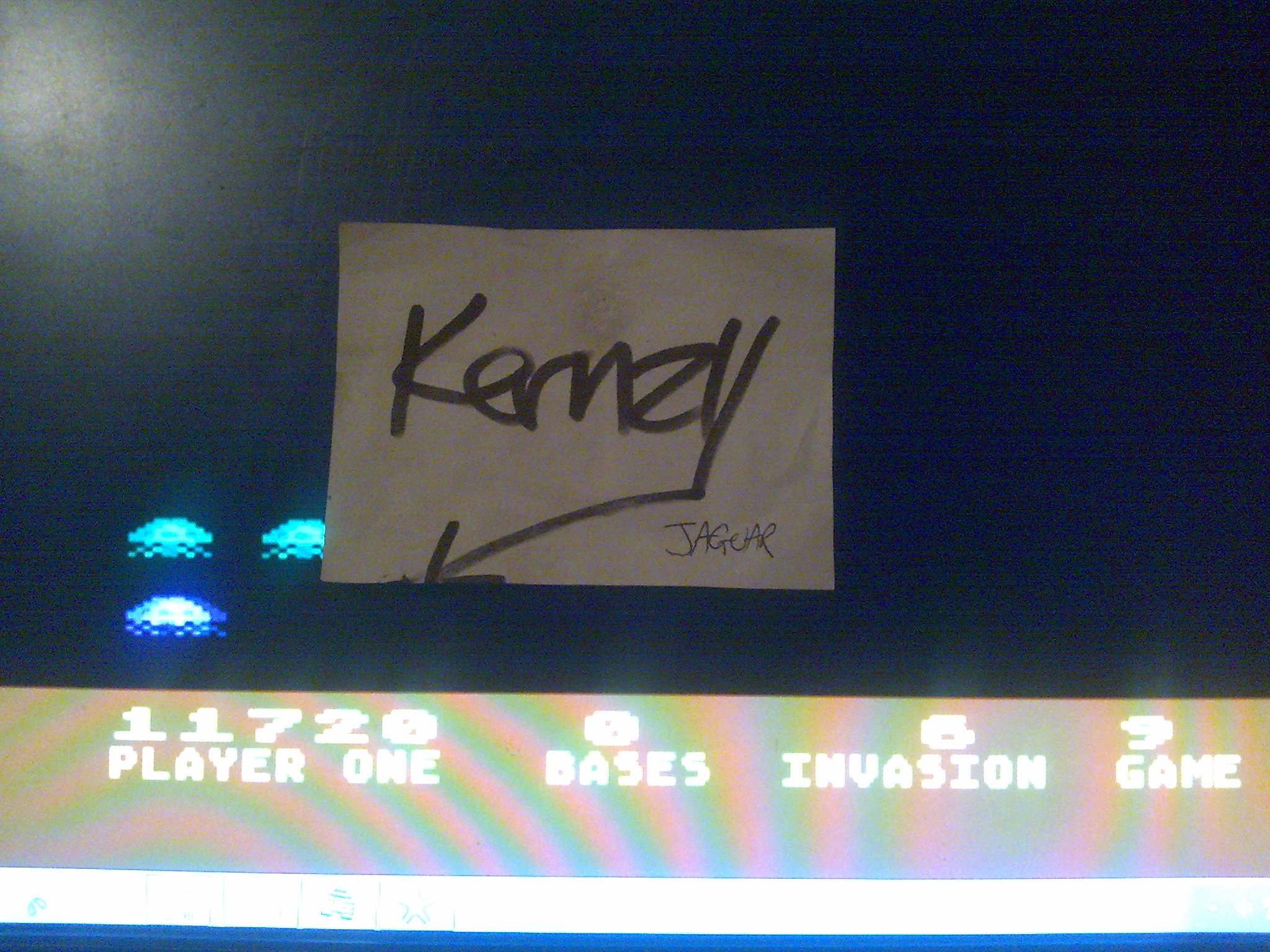 kernzy: Atari Invaders [Game 9] (Atari 400/800/XL/XE Emulated) 11,720 points on 2014-10-21 23:44:15