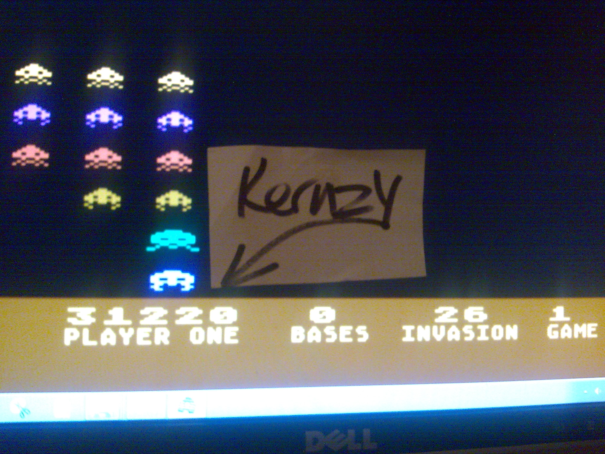kernzy: Deluxe Invaders: Game 1 (Atari 400/800/XL/XE Emulated) 31,220 points on 2014-10-21 23:46:41
