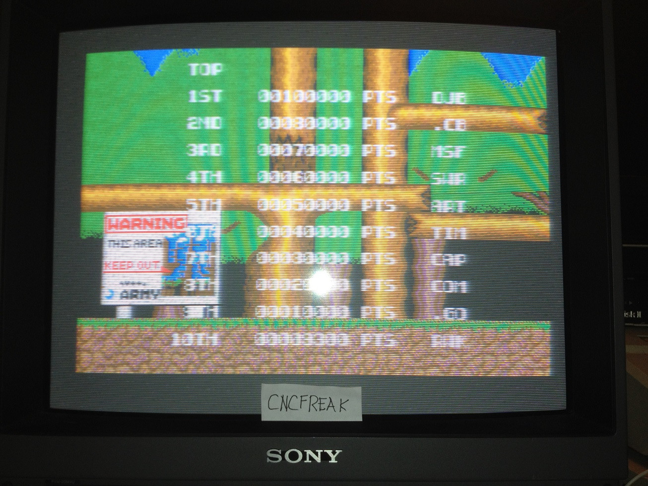 Bionic Commando 9,300 points