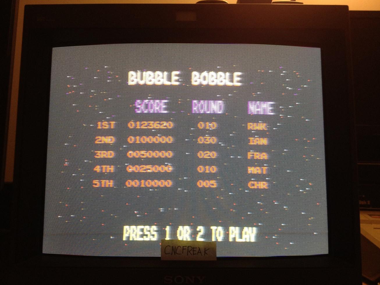 Bubble Bobble 123,620 points