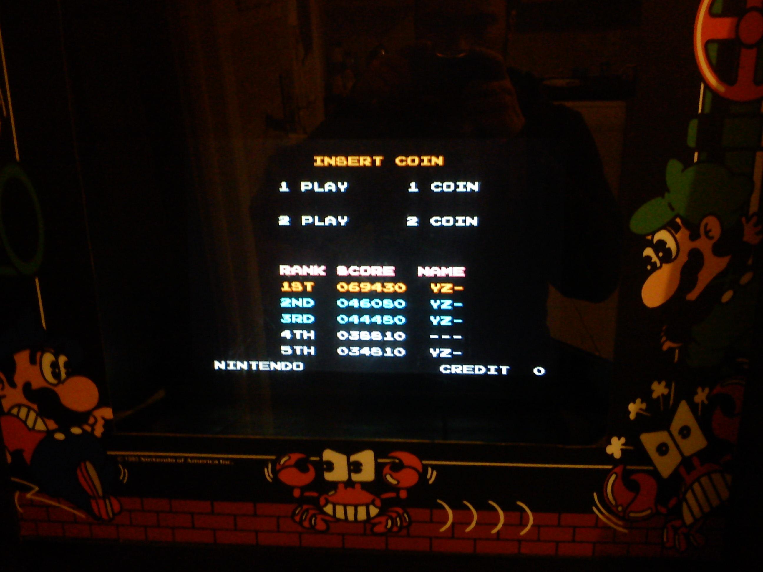 Mario Bros 69,430 points