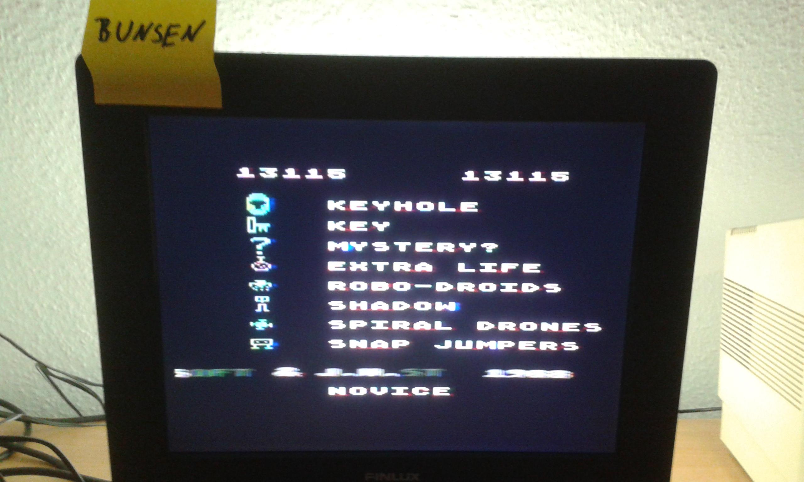 Bunsen: Shamus (Atari 400/800/XL/XE) 13,115 points on 2014-10-24 15:34:10