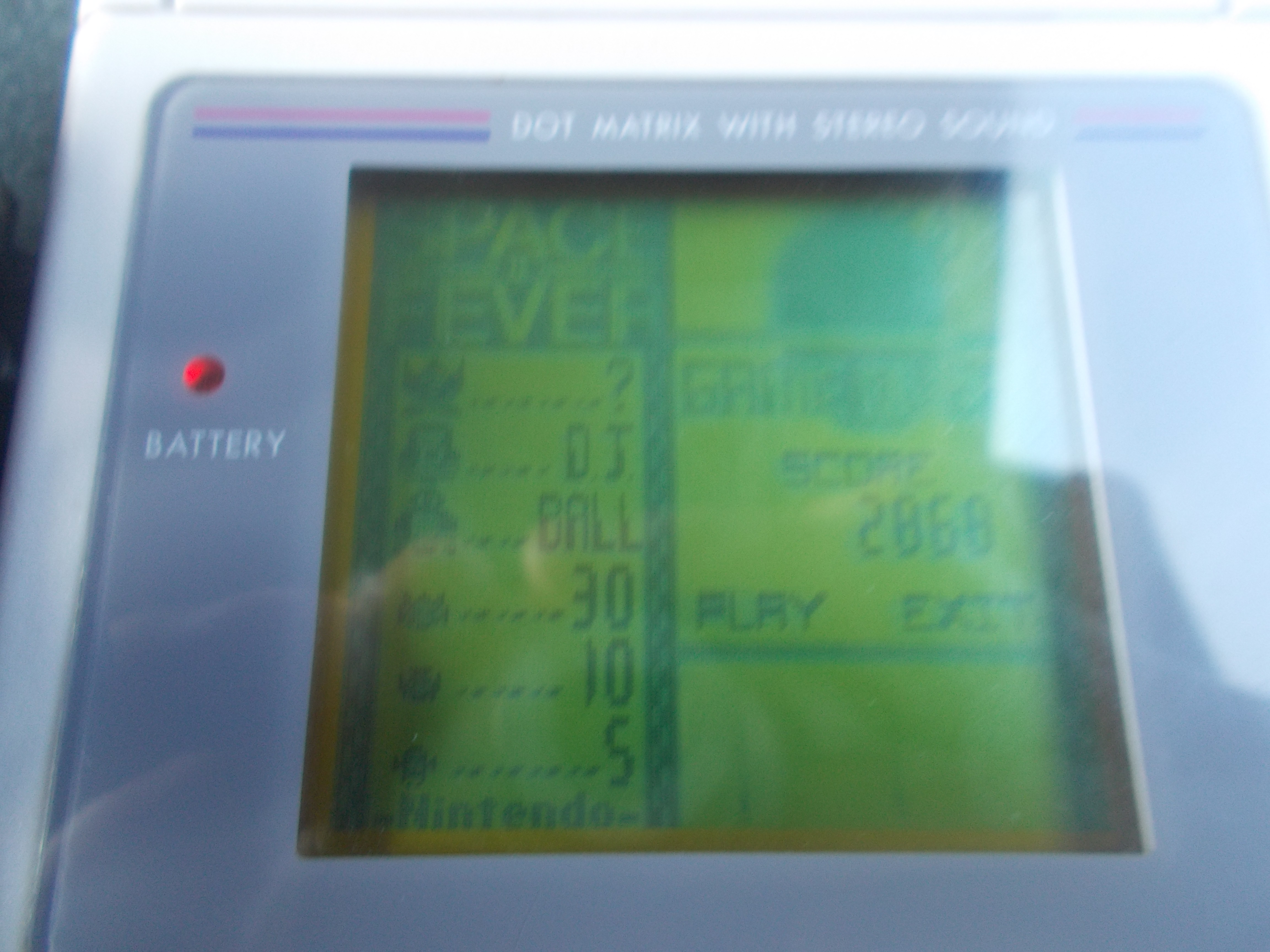 DuckGWR: Game Boy Camera: Space Fever 2 (Game Boy) 2,868 points on 2014-10-24 19:28:19