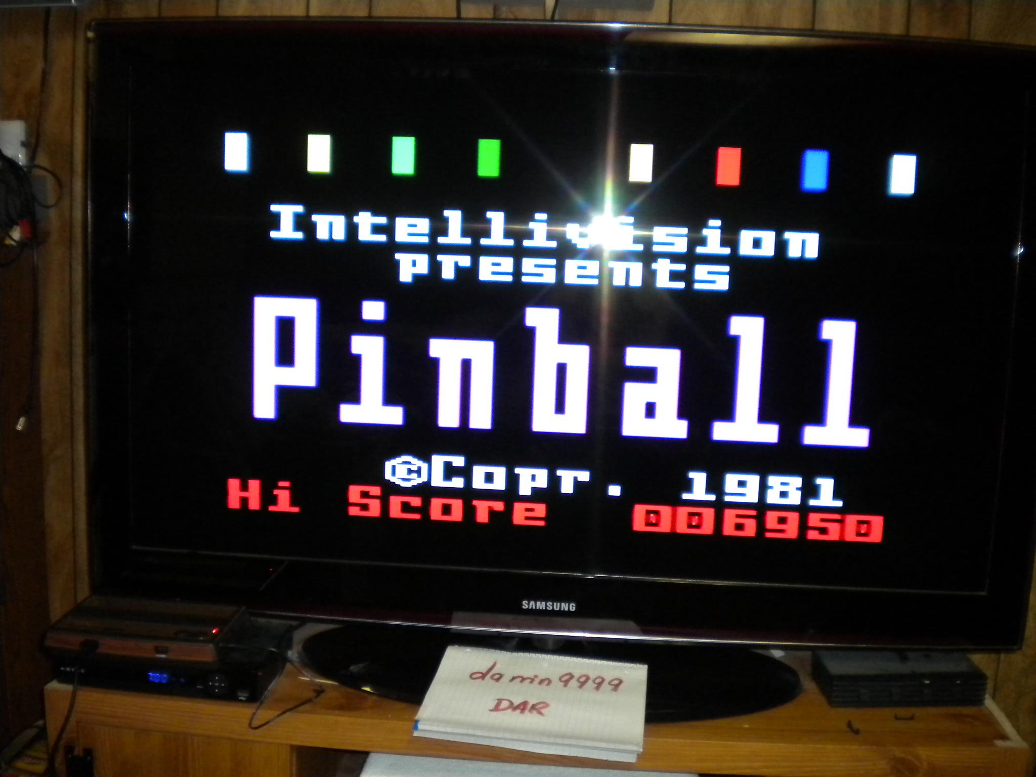 Pinball 6,950 points
