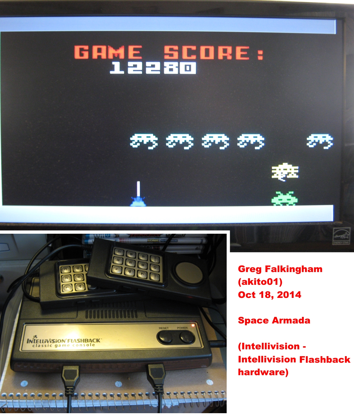 Akito01: Space Armada (Intellivision Flashback) 12,280 points on 2014-10-25 11:50:36