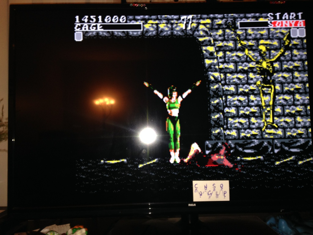 Congslop: Mortal Kombat [Easy] (Sega Master System Emulated) 1,451,000 points on 2014-10-25 17:40:23