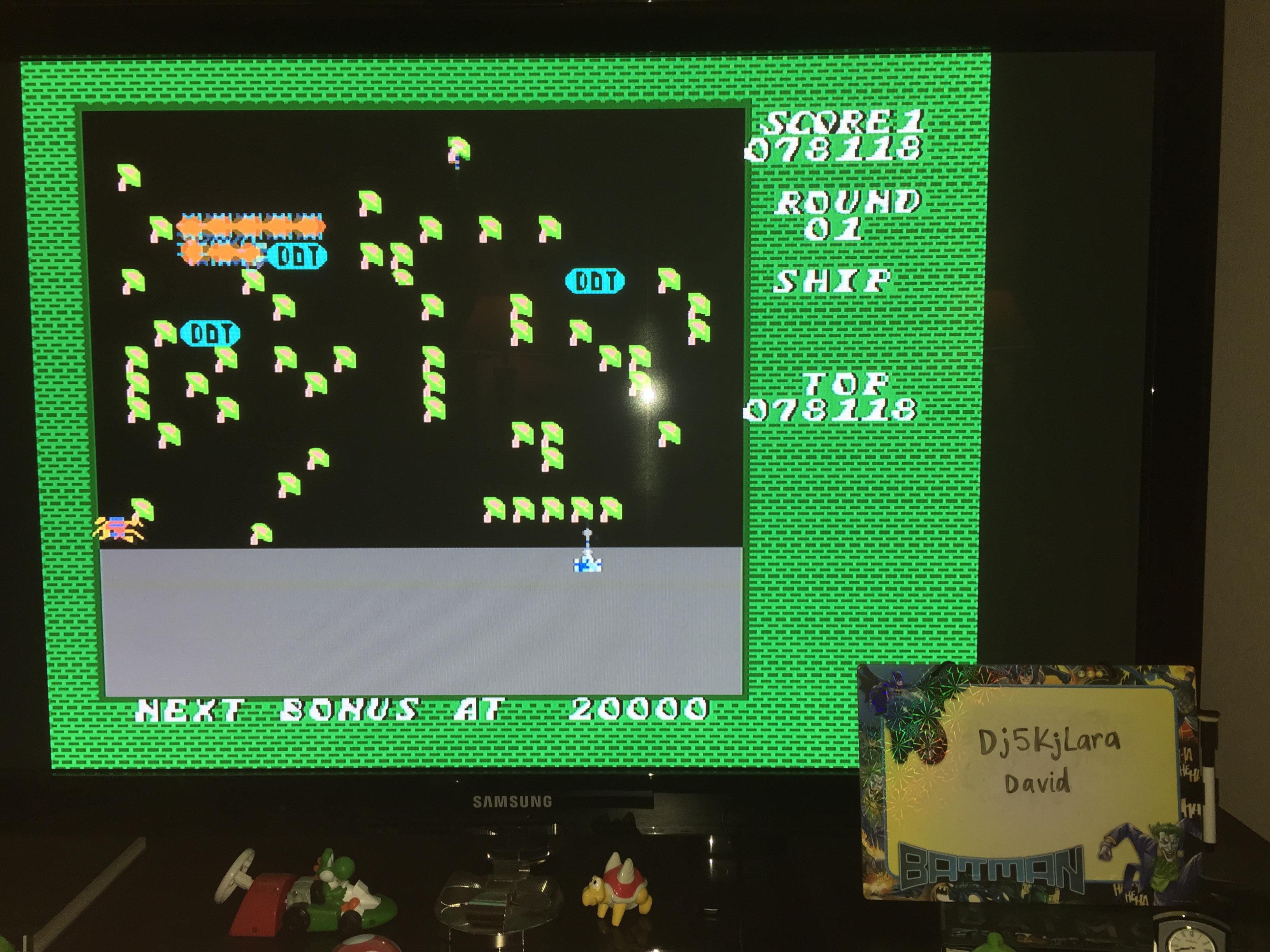 dj5kjlara: Millipede (NES/Famicom Emulated) 78,118 points on 2014-10-25 21:01:52