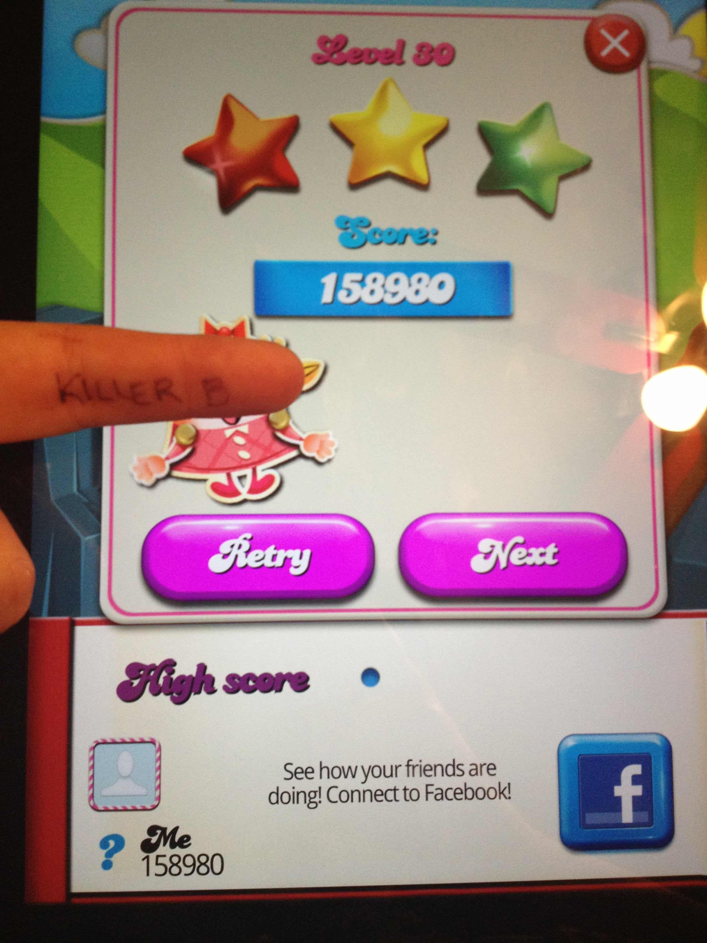 Candy Crush Saga: Level 030 158,980 points