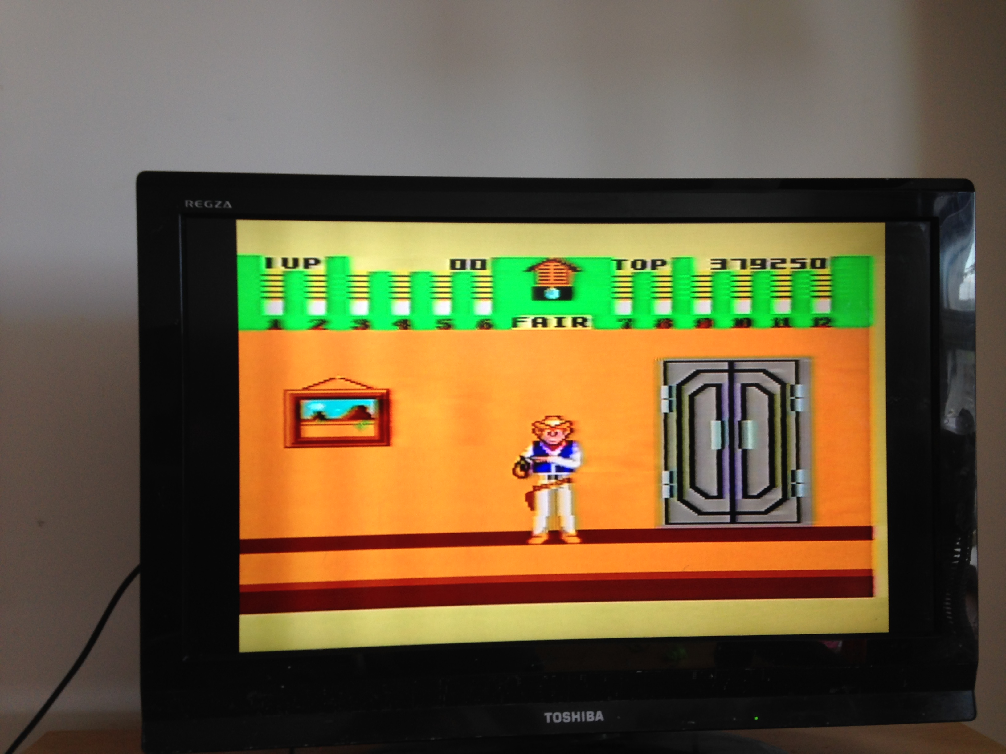 mechafatnick: Bank Panic (Sega Master System) 379,250 points on 2014-10-26 02:37:56