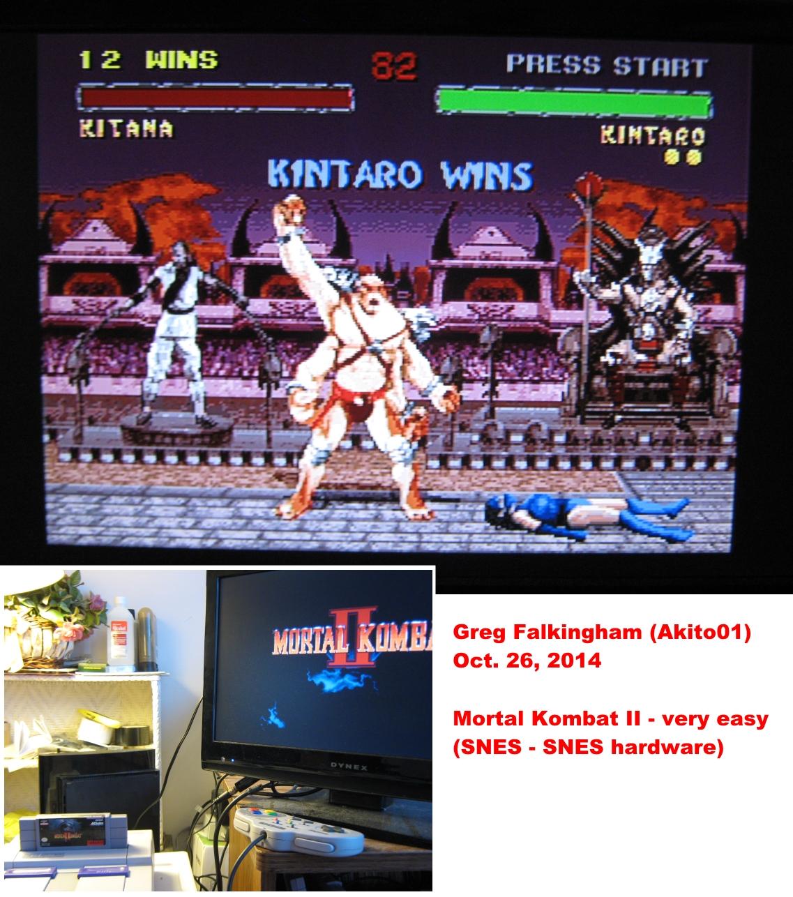 Mortal Kombat II: Very Easy [Win Streak] 12 points