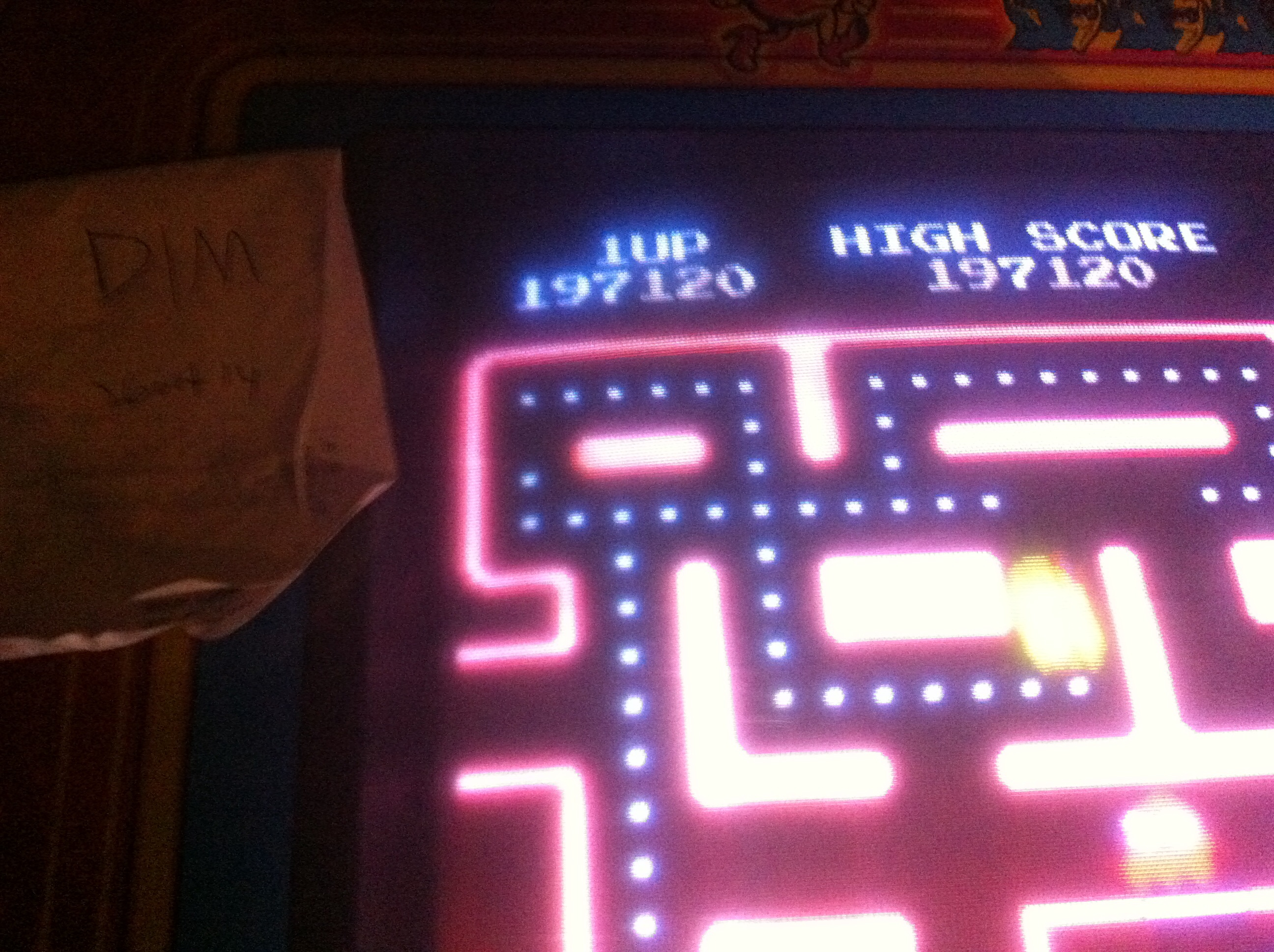 DIM: Ms. Pac-Man [Turbo] (Arcade) 197,120 points on 2014-10-26 17:10:34