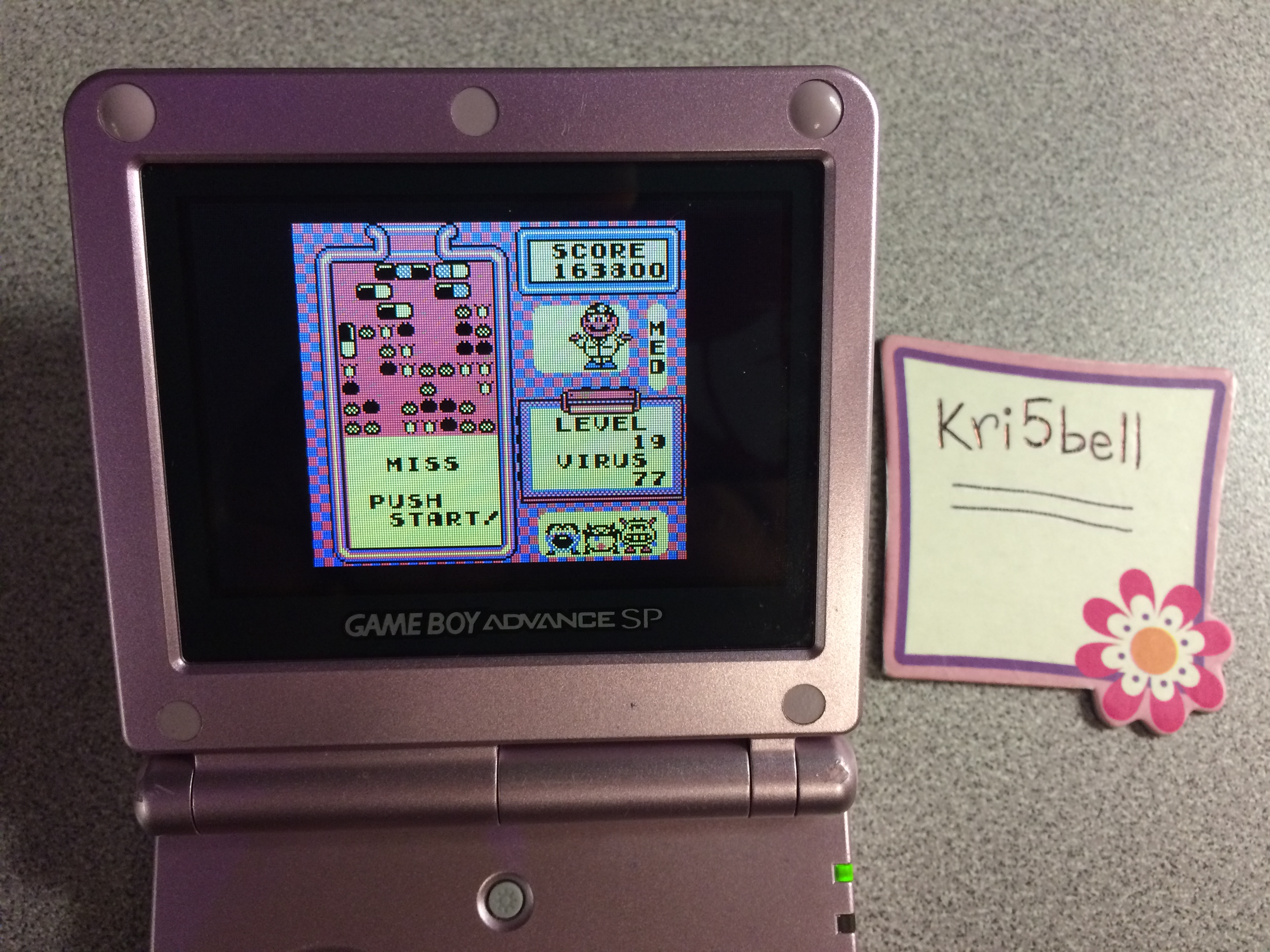 kri5bell: Dr. Mario [Medium] (Game Boy) 163,800 points on 2014-10-28 14:52:58