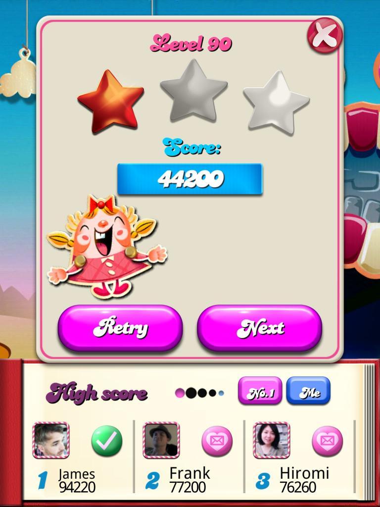 killersquirel: Candy Crush Saga: Level 090 (iOS) 44,200 points on 2013-10-14 07:57:24