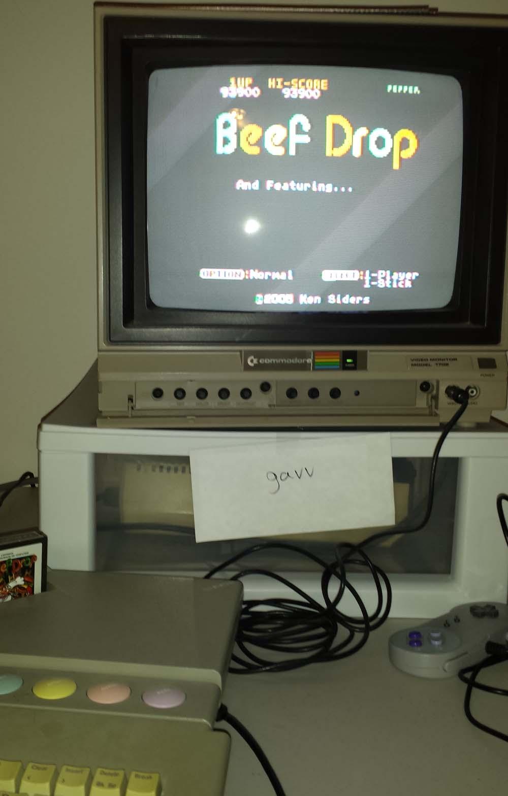 gavv: Beef Drop [Normal] (Atari 400/800/XL/XE) 93,900 points on 2014-10-28 21:14:49
