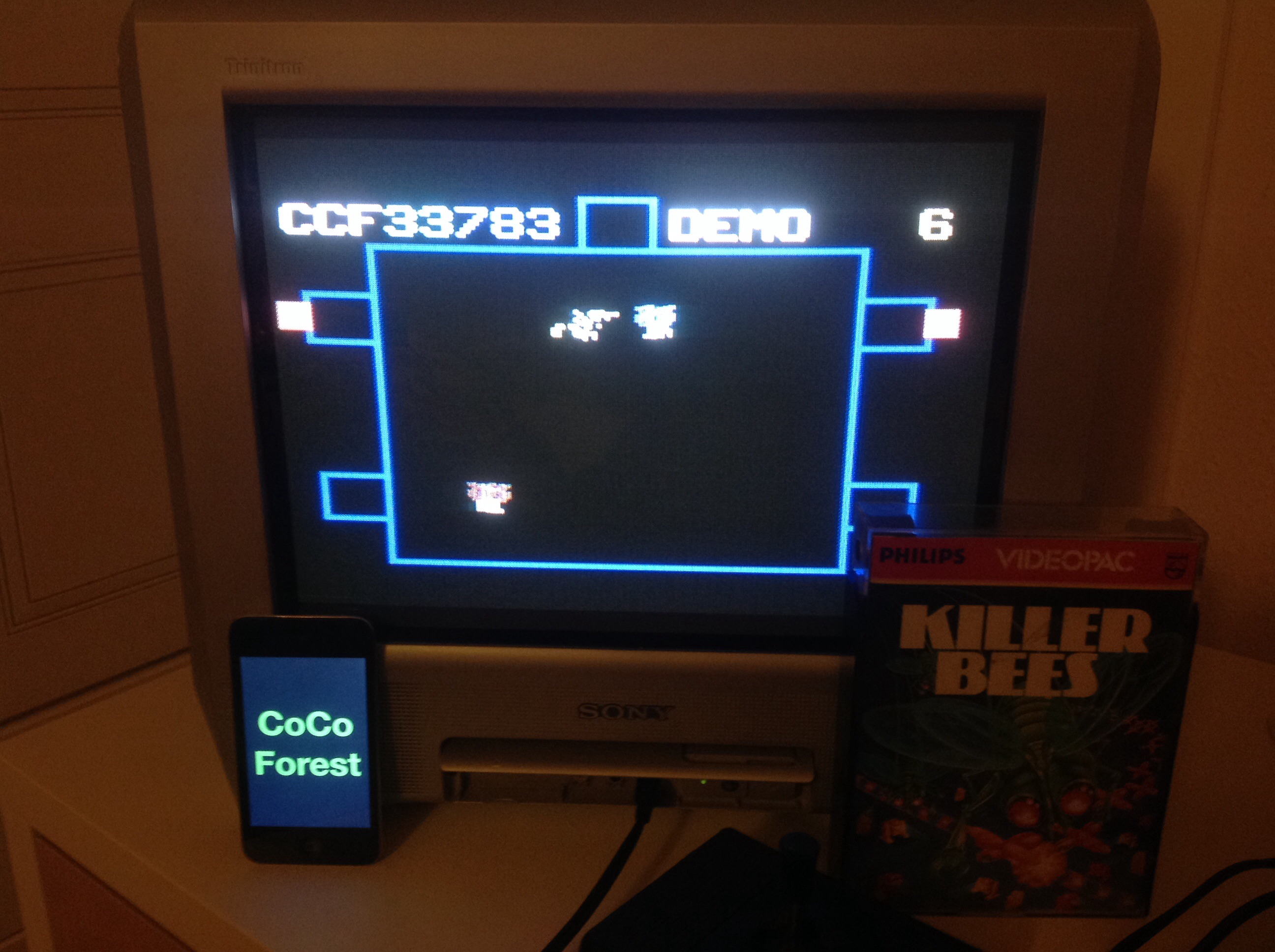 CoCoForest: Killer Bees (Odyssey 2 / Videopac) 33,783 points on 2014-10-29 11:23:44