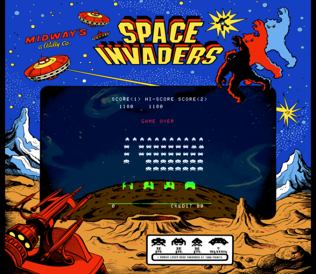 kamakazi20012: Space Invaders (Arcade Emulated / M.A.M.E.) 1,180 points on 2013-09-07 00:12:56