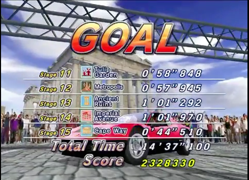 mechafatnick: Outrun 2006: Coast to Coast: Outrun 2: 15 Stage Continuous (PC) 2,328,330 points on 2014-10-30 02:17:21