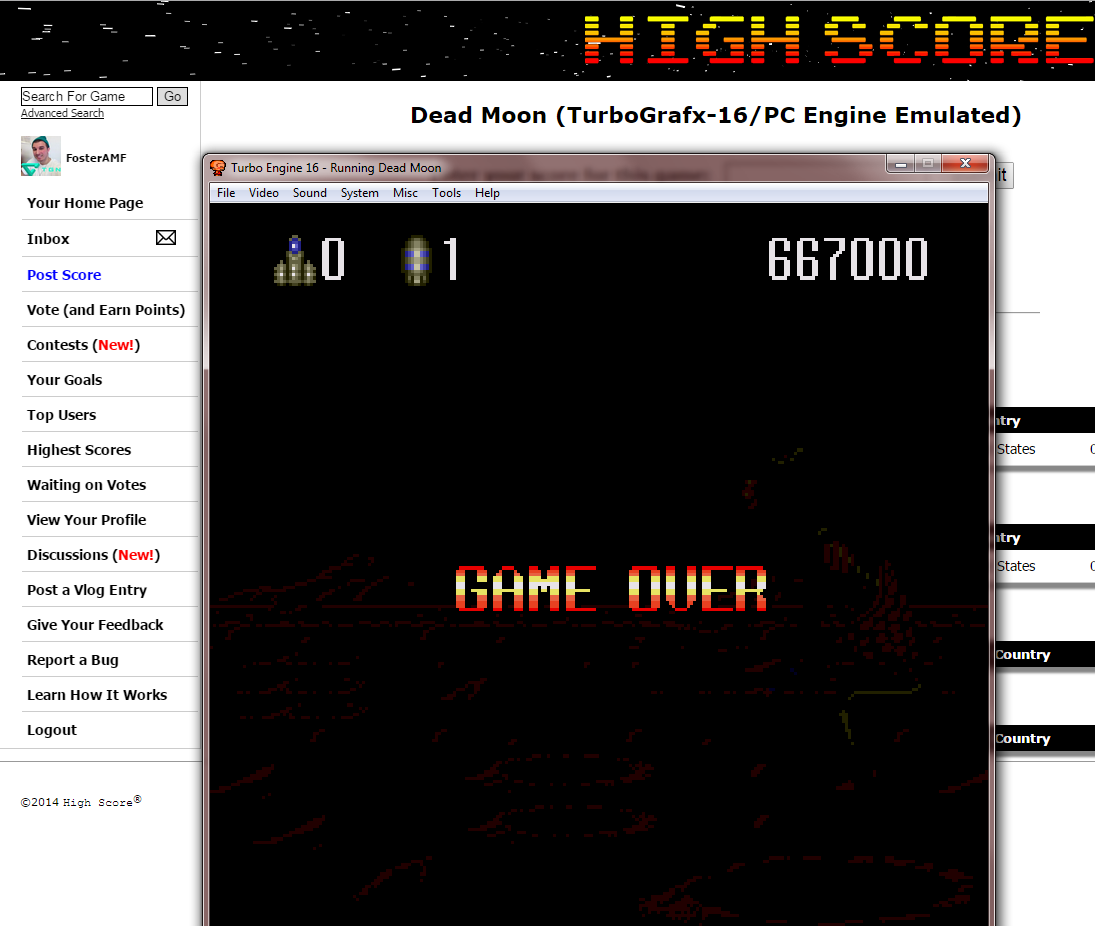 FosterAMF: Dead Moon (TurboGrafx-16/PC Engine Emulated) 667,000 points on 2014-10-30 17:12:52