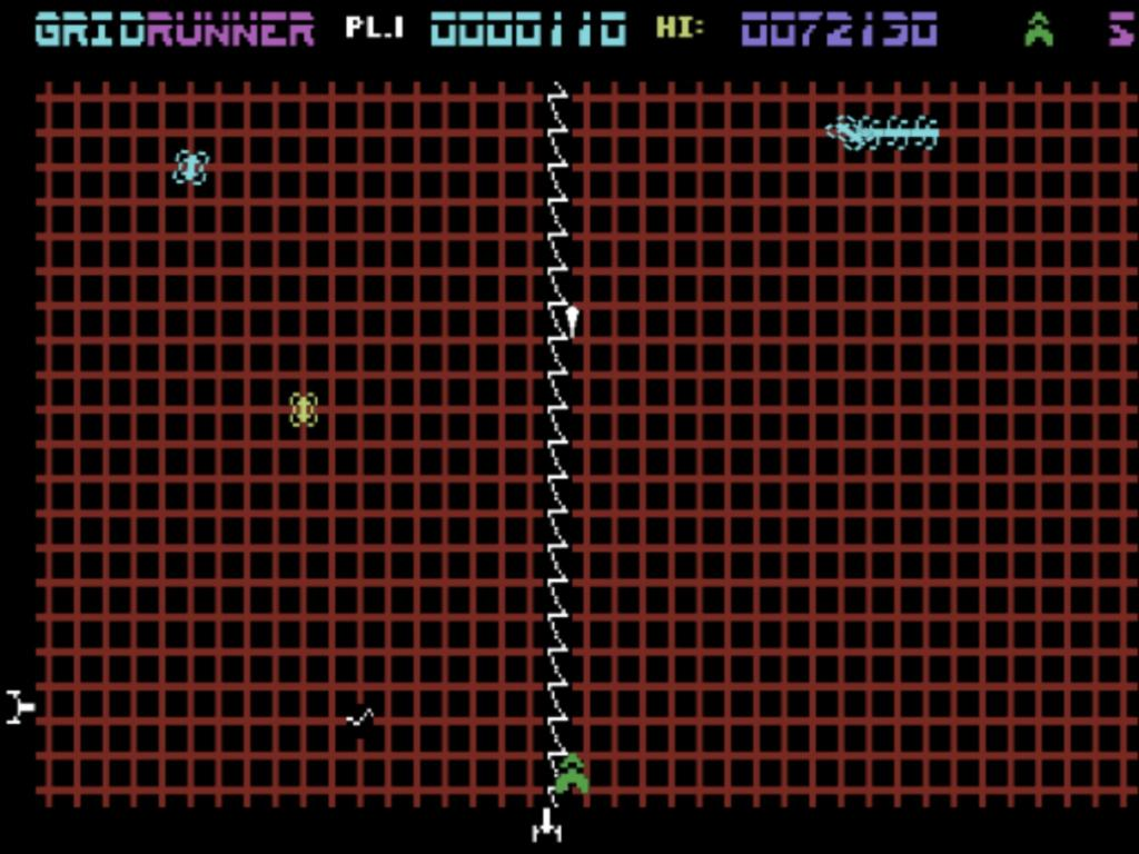 Gridrunner: C64 mode 72,130 points