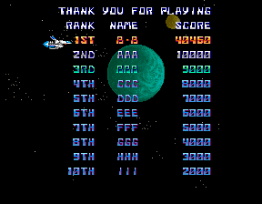 BarryBloso: Thunder Cross [U.S.] (Arcade Emulated / M.A.M.E.) 40,460 points on 2014-10-30 18:53:45