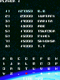 BarryBloso: Omega Fighter [omegaf] (Arcade Emulated / M.A.M.E.) 127,350 points on 2014-10-30 19:52:07